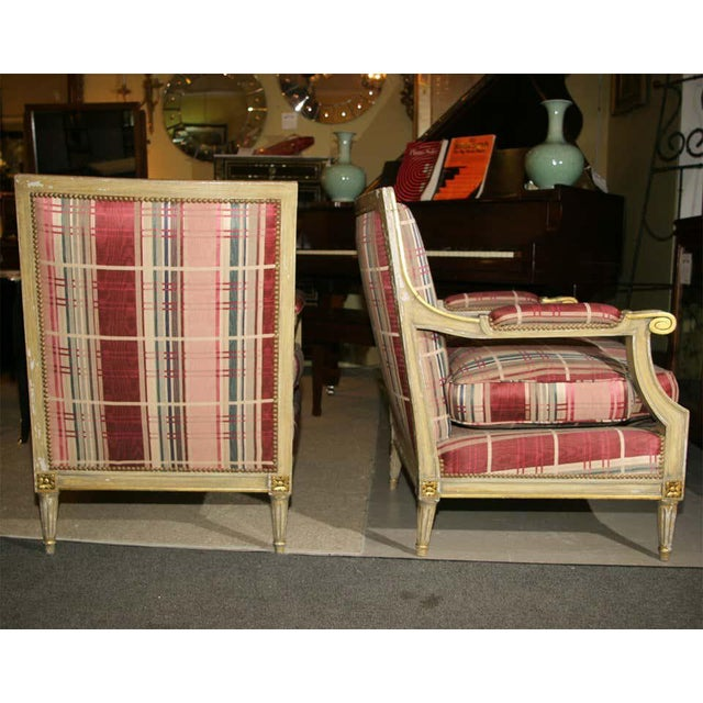 Fabulous French Bergere Chair by Jansen For Sale - Image 9 of 13
