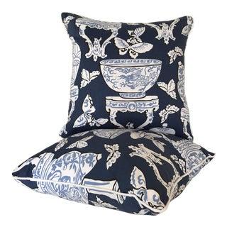 Chinoiserie Blue & White Ginger Jar Pillows - A Pair