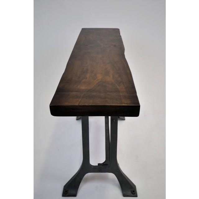 Handmade Walnut & Steel Console Table - Image 9 of 10