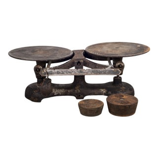 19th C. Cast Iron Balance Scale C.1800s For Sale