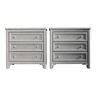 Rattan Dressers / Bachelor Chests by Henry Link, a Pair