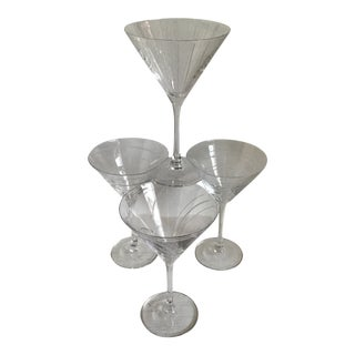 Assorted Pattern Vintage Etched Mikasa Martini Glasses-Set of 4 For Sale