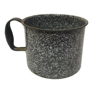 Antique Large Brown Granite Cup