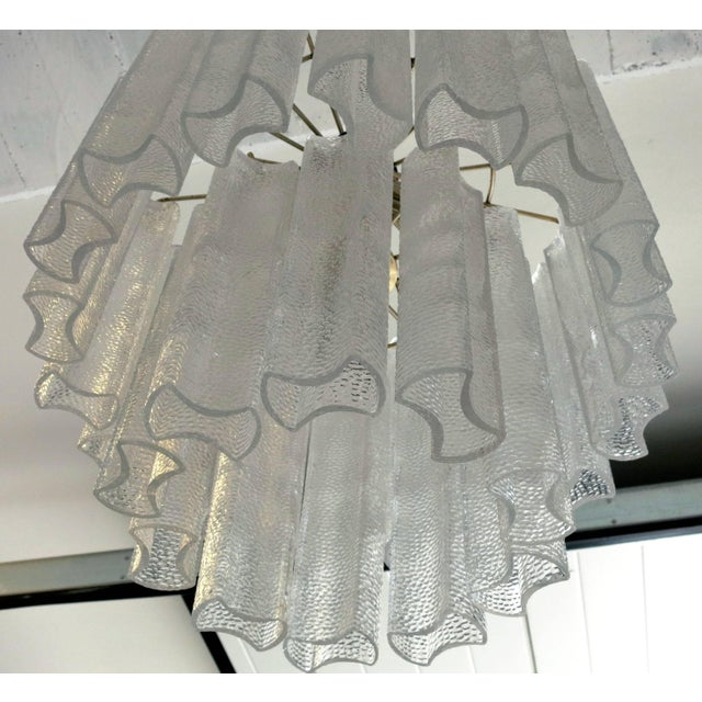 Mid 20th Century Italian Vintage Murano Glass Chandelier by Venini For Sale - Image 5 of 6