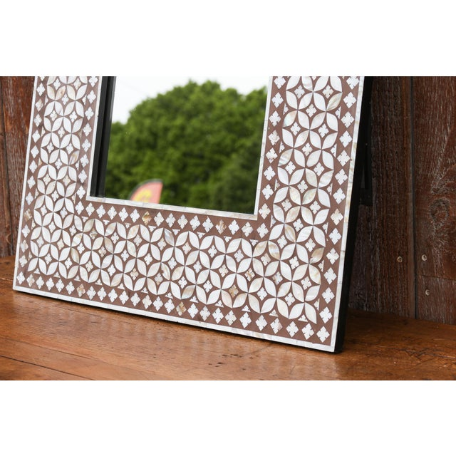 Exquisite Geometric Inlaid Square Mirror For Sale - Image 4 of 7