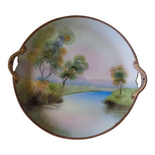 Vintage Nippon Hand Painted Dish For Sale