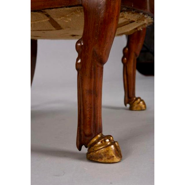 19th Century French Empire Mahogany & Parcel Gilt Chairs - A Pair - Image 9 of 9