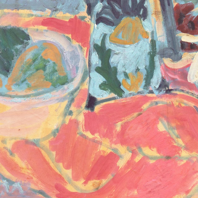 'Still Life' by Victor Di Gesu; 1955 Paris, Louvre, Académie Chaumière, California Post-Impressionist, Lacma For Sale - Image 4 of 10