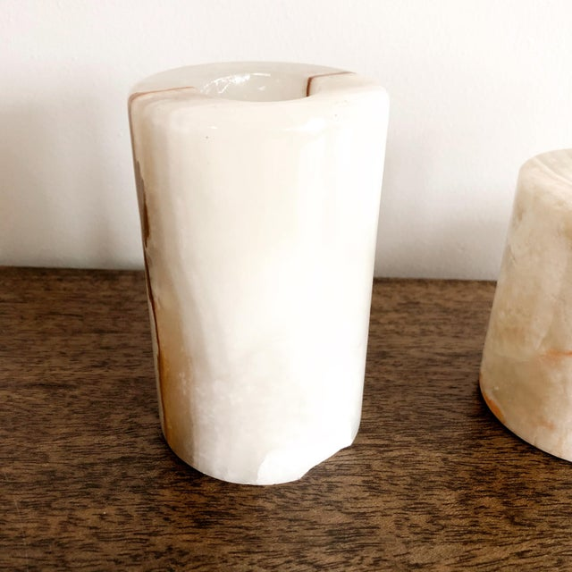 Onyx Pakistani Candlestick Holders, Set of 3 For Sale In Austin - Image 6 of 11