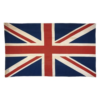 Vintage Union Jack Cotton Flag For Sale