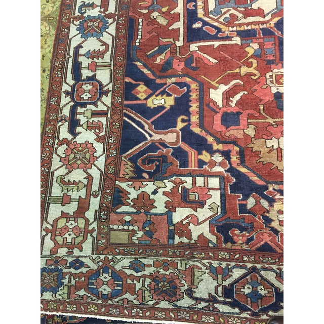 "Textile Pasargad NY Antique Persian Serapi Rug - 9'8"" x 13'4"" For Sale - Image 7 of 8"