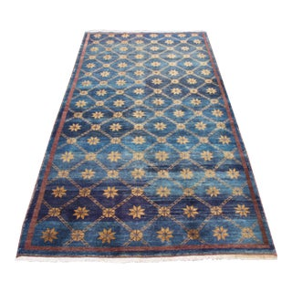 Vintage Turkish Oushak Rug - 4′ × 8′4″ For Sale