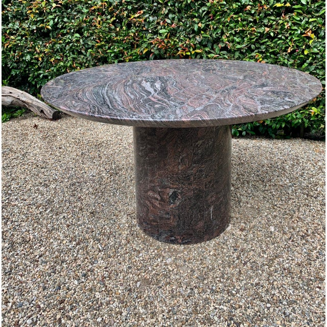 Mid 20th Century Granite Dining Center Table For Sale - Image 11 of 11