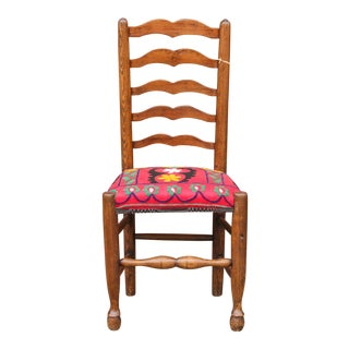 Antique 19th Century English Suzani Chair For Sale