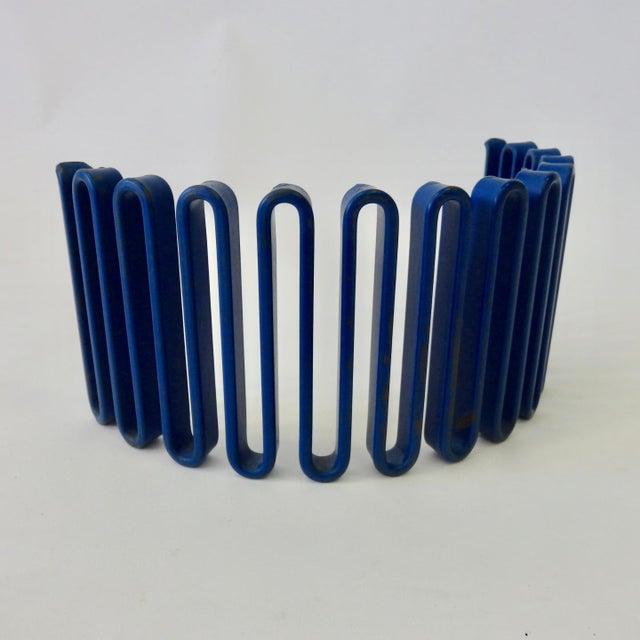 Royal Blue Industrial Desktop Sculptural Organizer Falk 1140T For Sale - Image 8 of 8