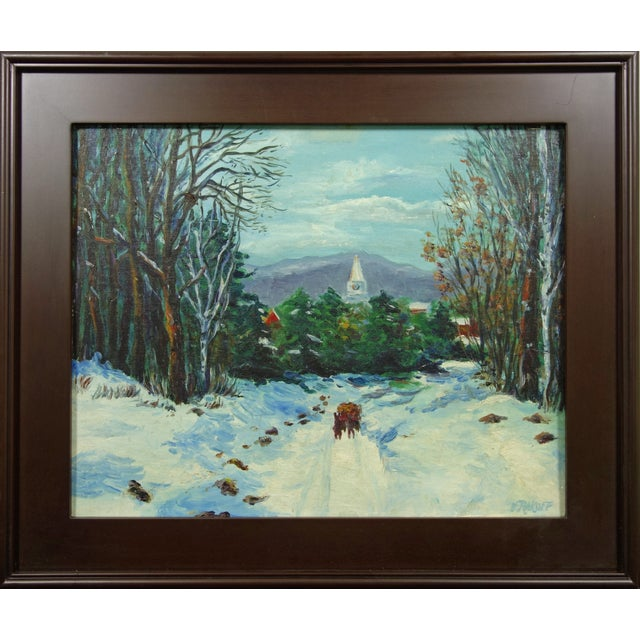 Impressionist Winter Landscape by Viki Rakoff - Image 7 of 7
