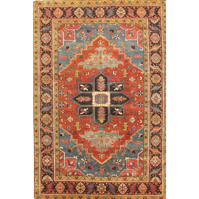 "Pasargad Serapi Lamb's Wool Area Rug - 5'11"" X 8'8"" For Sale"