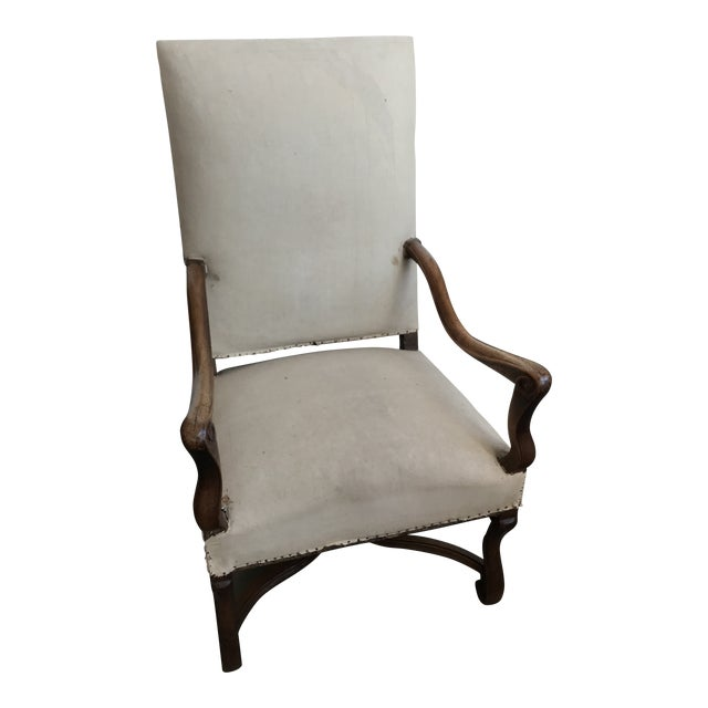 18th Century French Walnut Louis XIII Armchair For Sale