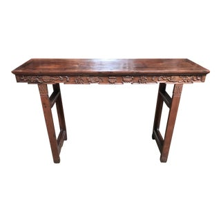 19th Century Chinese Style Wooden Console
