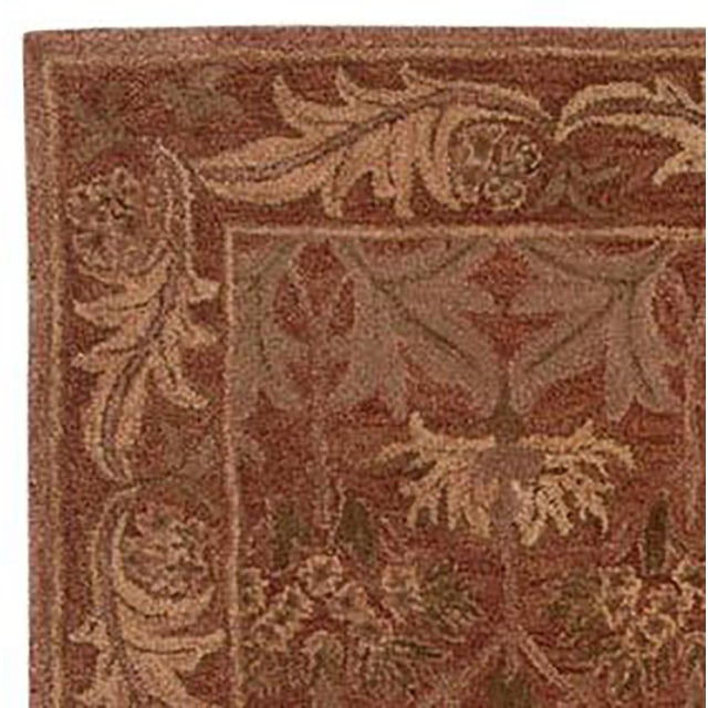 This organic Arts and Crafts style of rug is hand tufted with 79% wool and 21% cotton Ethically handmade in India (Social...