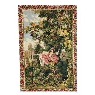 """Antique Needlepoint and Petitpoint Tapestry - 32"""" X 48"""" For Sale"""
