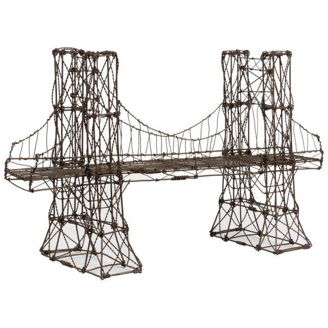 Mid Century Modern Vintage Brutalist Wire Bridge Table Sclupture For Sale - Image 10 of 10