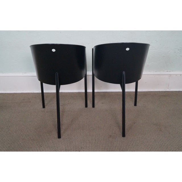 Philippe Starck Aleph Black Metal Chairs - A Pair - Image 4 of 9