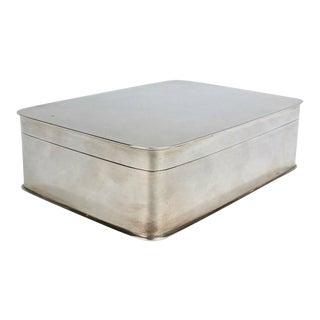 Art Deco German 800 Silver Dresser Box by Körner & Proll Silversmiths of Berlin For Sale