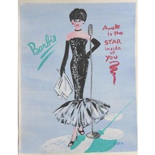 NIghtclub Barbie Fashion Painting by Cleo Plowden For Sale