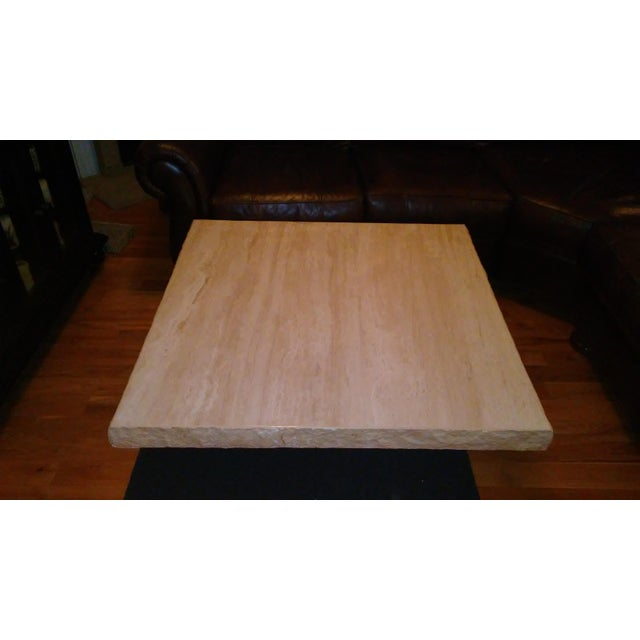 Italian Travertine Coffee Table - Image 3 of 4