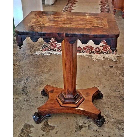 Beech 19c British William IV Colonial Specimen Wood Side Table - Important For Sale - Image 7 of 12