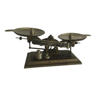 19th Century Traditional Brass Scale For Sale