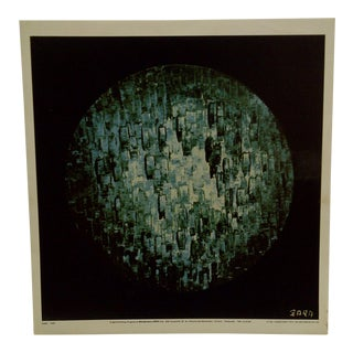 "1970s Americana Poster of Original Painting , ""Lunar Study 1973"" by Zara For Sale"
