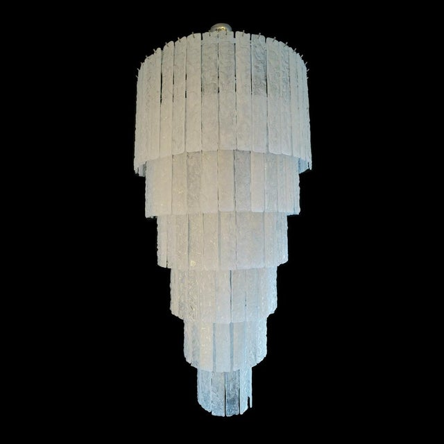 1960s Stecche Martellate Chandelier For Sale - Image 5 of 6