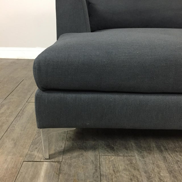 Modern Gray Left Chaise Sectional Sofa - Image 5 of 8