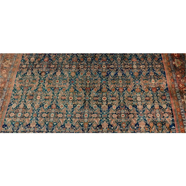 Textile Antique Persian Palatial Rug For Sale - Image 7 of 9