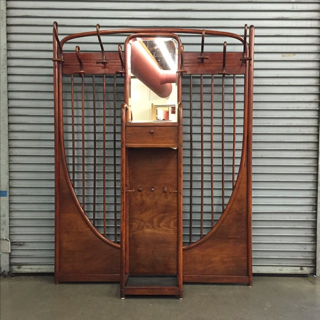 Certainly not your everyday find, this monumental Thonet bentwood hall tree should hopefully solve all of your entryway...