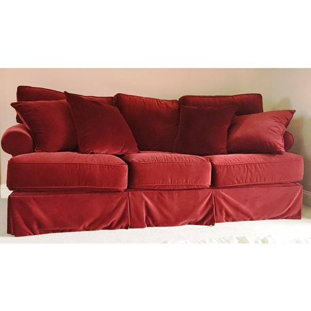 Red Velvet Standard Sofa - Image 3 of 3