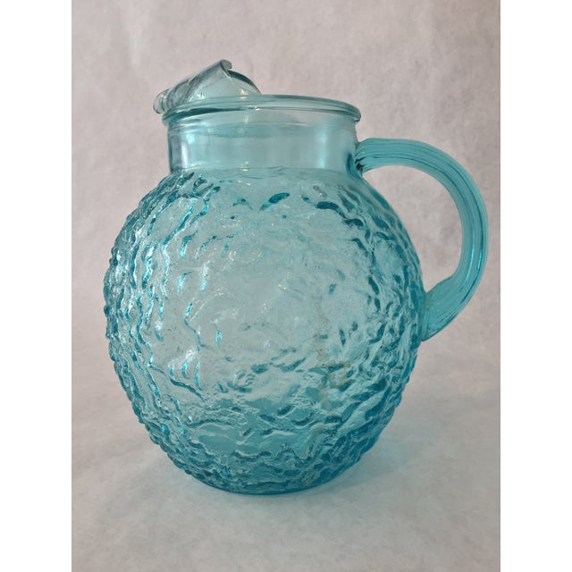 Anchor Hocking Aqua Lido Pitcher For Sale - Image 5 of 5