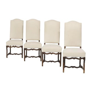 Four Provincial Louis XIV-Style Dining Chairs For Sale