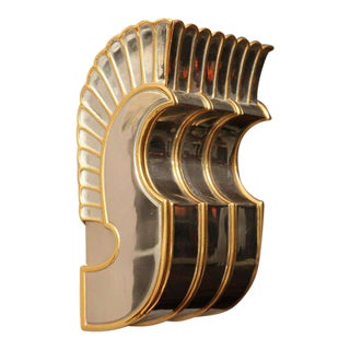 One Cast Bronze Art Deco Wall Sconce For Sale