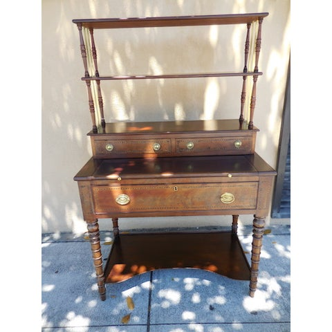 Antique English Mahogany Desk - Image 7 of 7