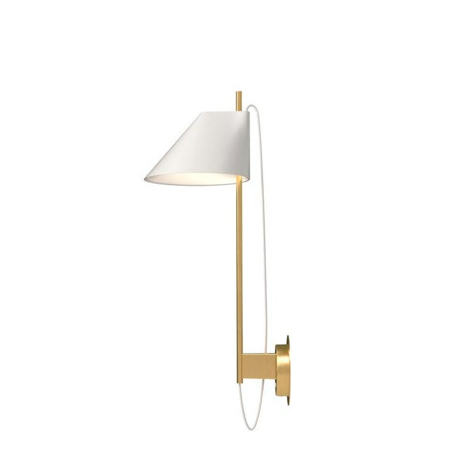 GamFratesi White and Brass 'Yuh' Wall Light for Louis Poulsen For Sale In Los Angeles - Image 6 of 6