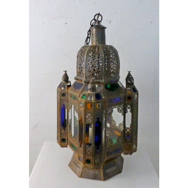 Vintage 1960s Moroccan Moorish Statement Chandelier For Sale - Image 10 of 10