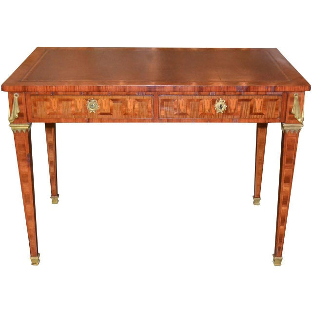 French Transitional Parquetry Inlaid Desk For Sale - Image 10 of 10