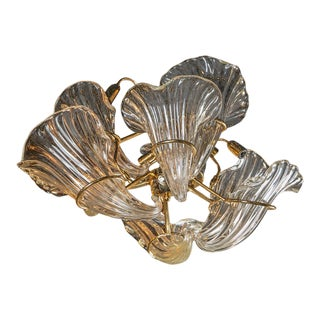 1960s Murano Glass Cornucopia Form Chandelier For Sale