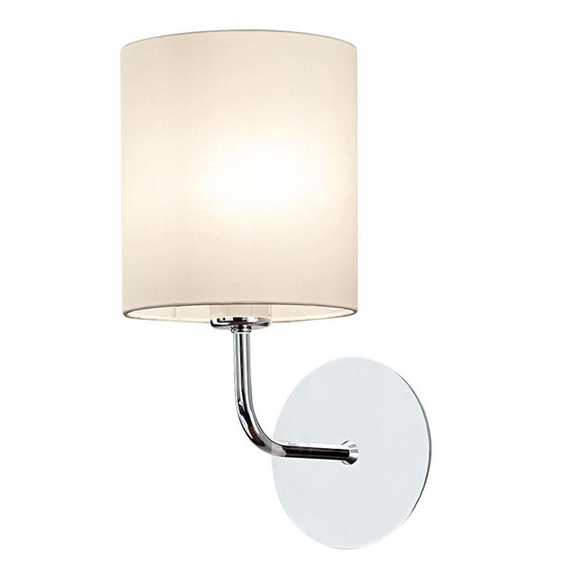 Mid-Century Modern Polished Chrome Wall Light With Shade For Sale - Image 3 of 3