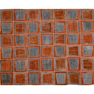 """Vintage Turkish Modern Patchwork Rug - 8'1"""" x 10'3"""" For Sale"""