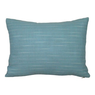 Japanese Striped Wool Lumbar Pillow Cover For Sale