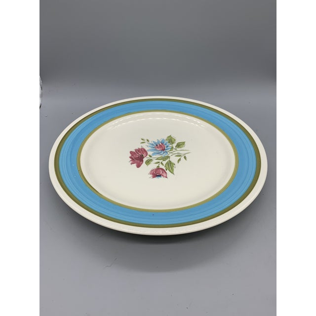 Ceramic Japan's Blue Lagoon Chop Plate For Sale - Image 7 of 9
